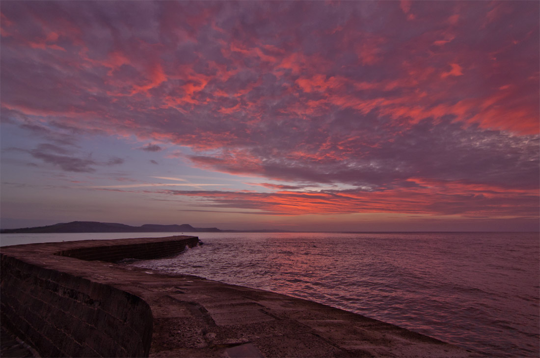 Sunrise over The Cobb, Lyme Regis.