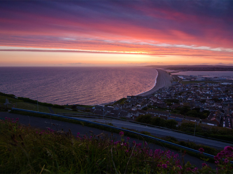 Portland, sunset, Dorset, Weymouth, landscape