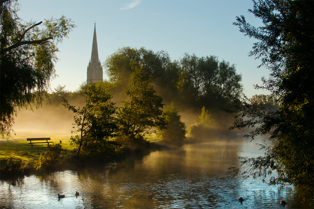 Salisbury Cathedral from the River Avon