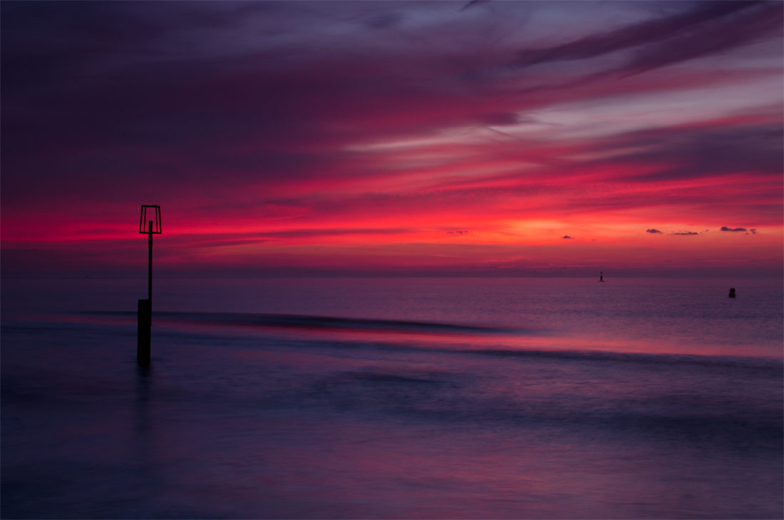 Branksome Chine sunrise.
